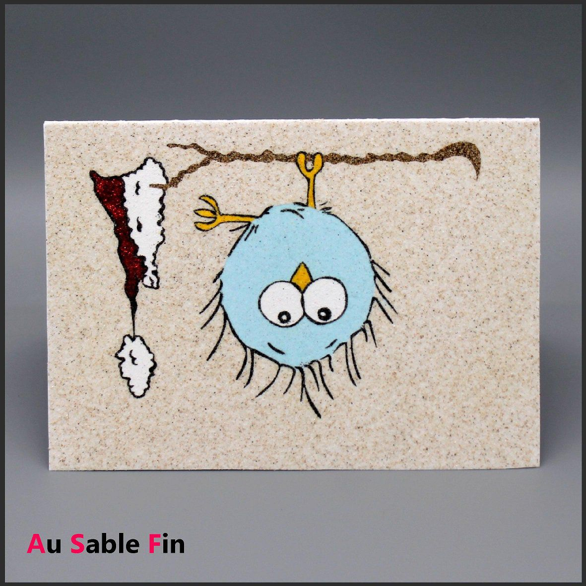 Carte en sable - Piou piou
