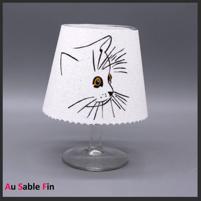 photophore-verre-chat
