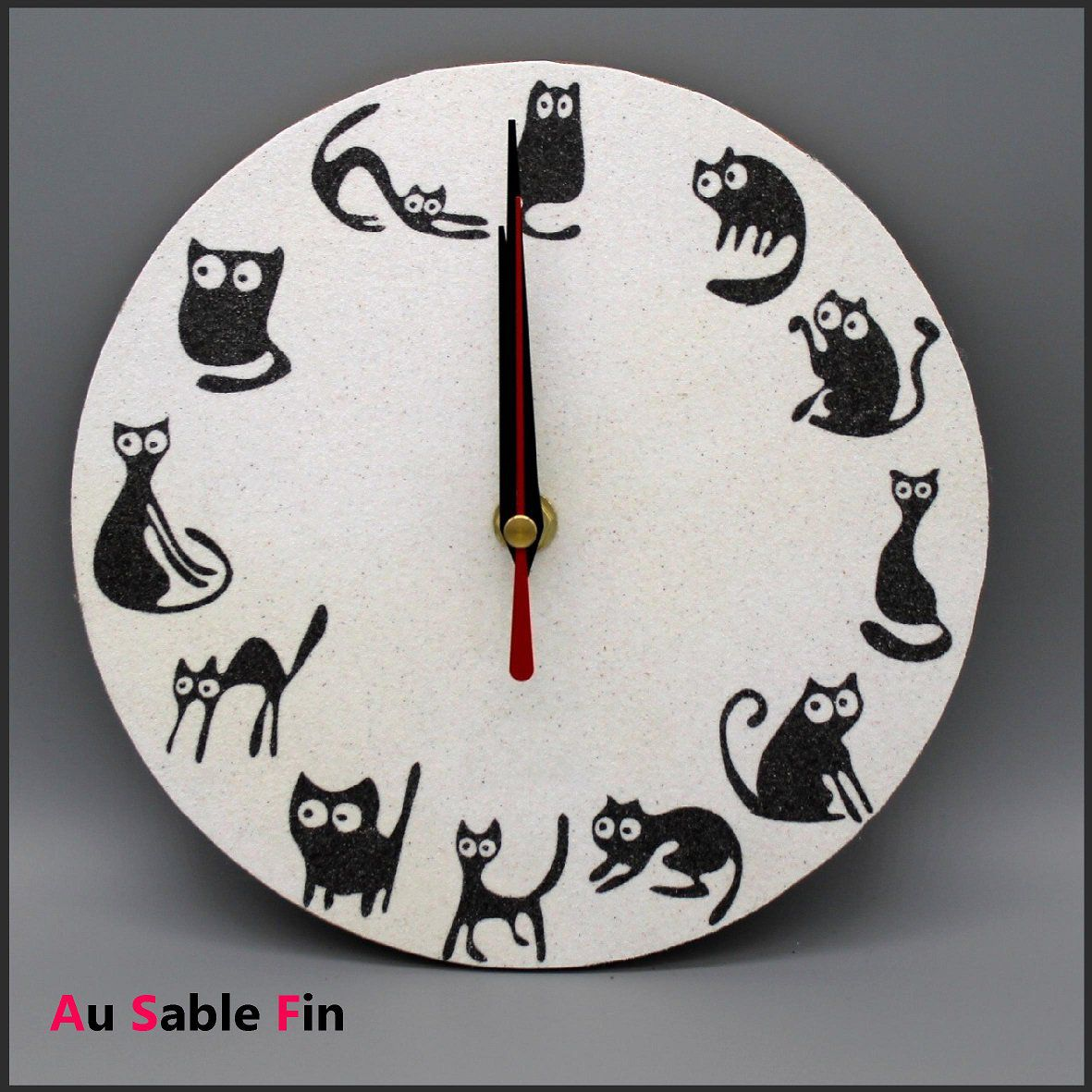 Horloge en sable - Chats fun
