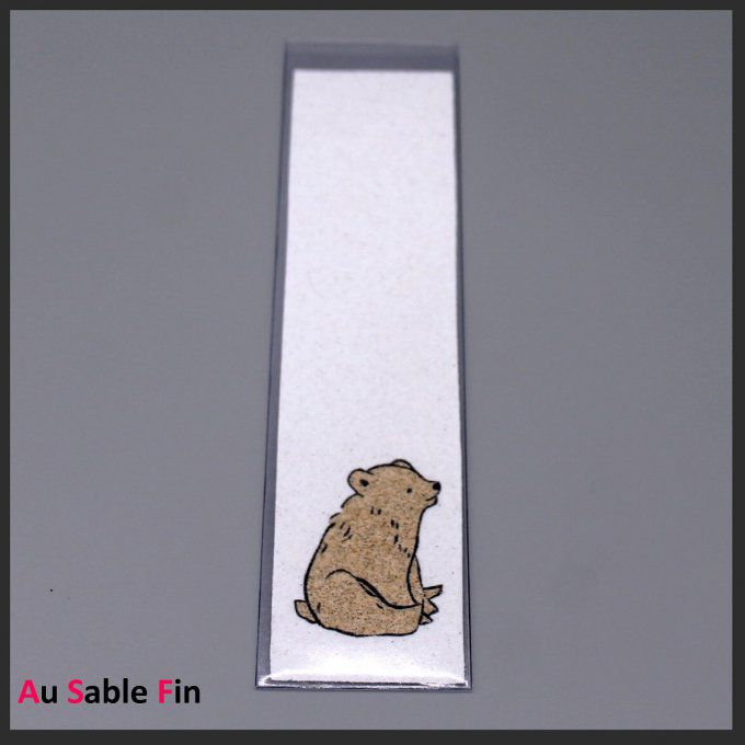 Marque-pages en sable - Ours